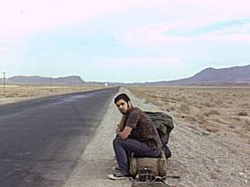 Hitch-hiking in Iran